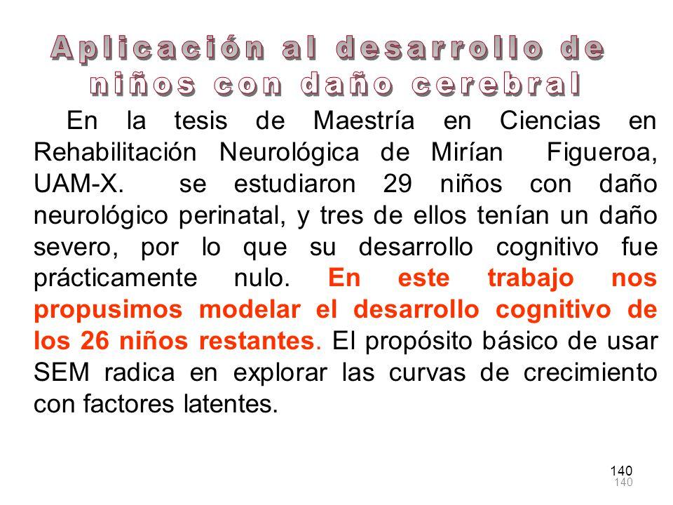 Aplicación al desarrollo de niños con daño cerebral