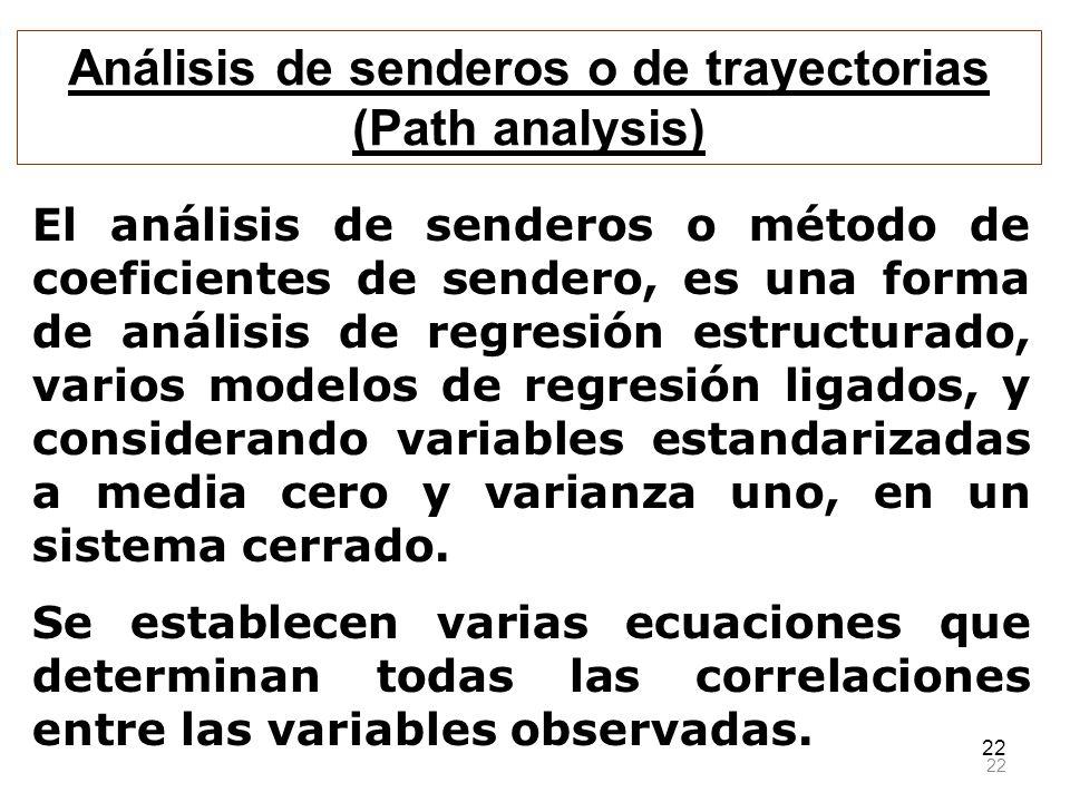 Análisis de senderos o de trayectorias