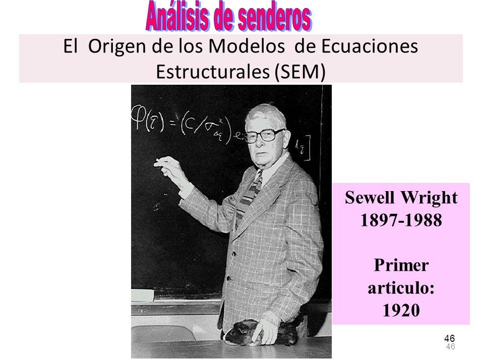 El Origen de los Modelos de Ecuaciones Estructurales (SEM)