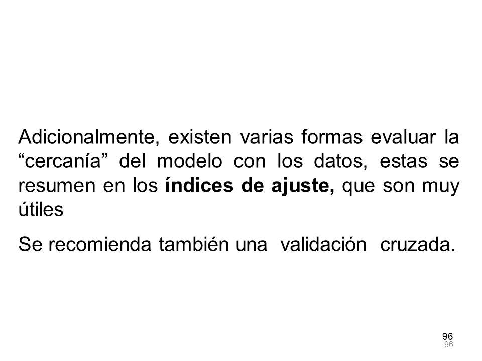 Se recomienda también una validación cruzada.