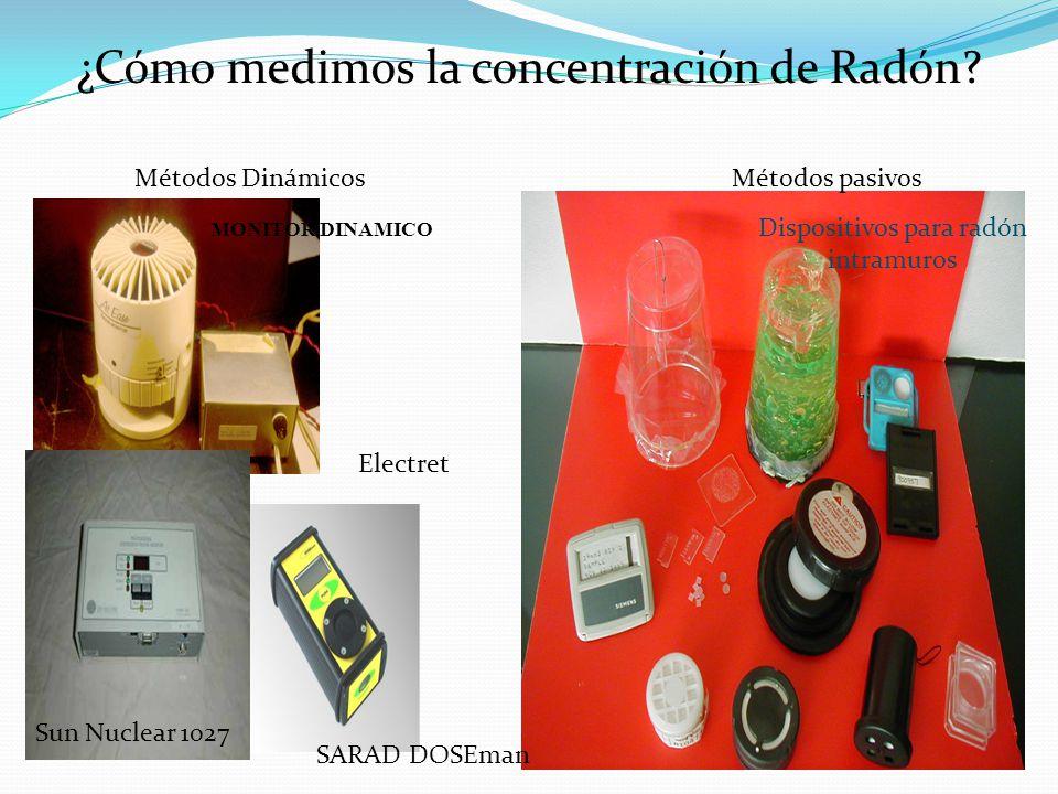 ¿Cómo medimos la concentración de Radón
