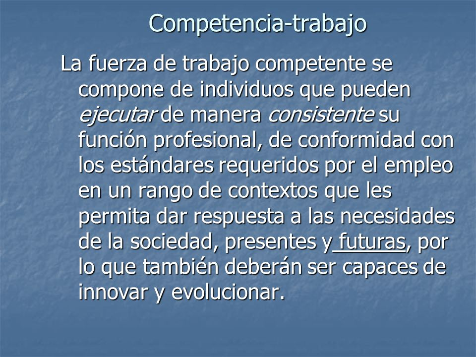 Competencia-trabajo