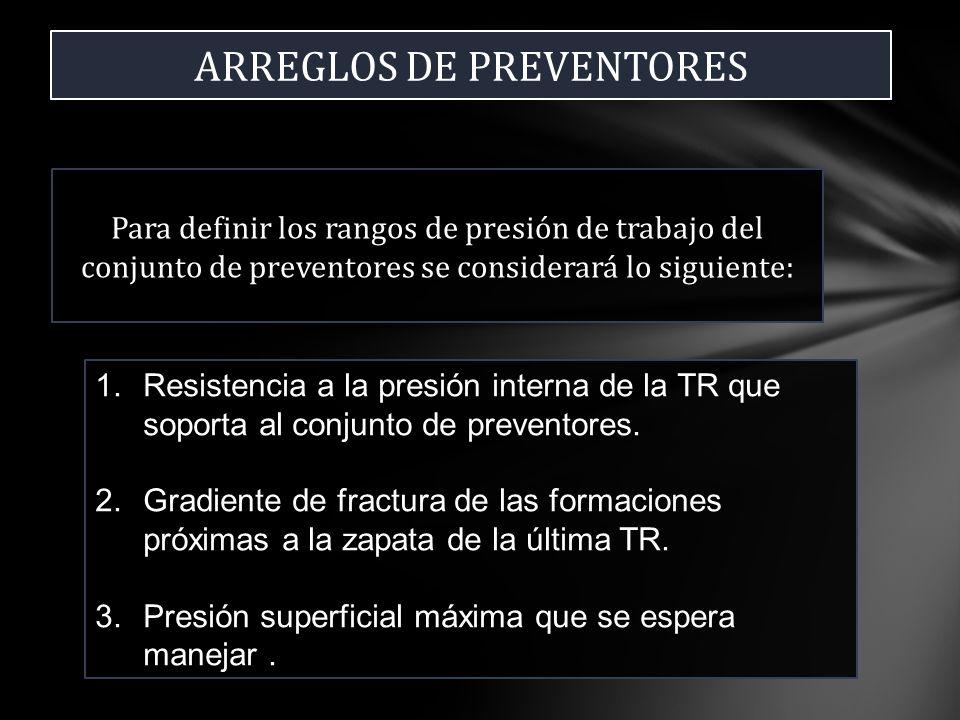 ARREGLOS DE PREVENTORES