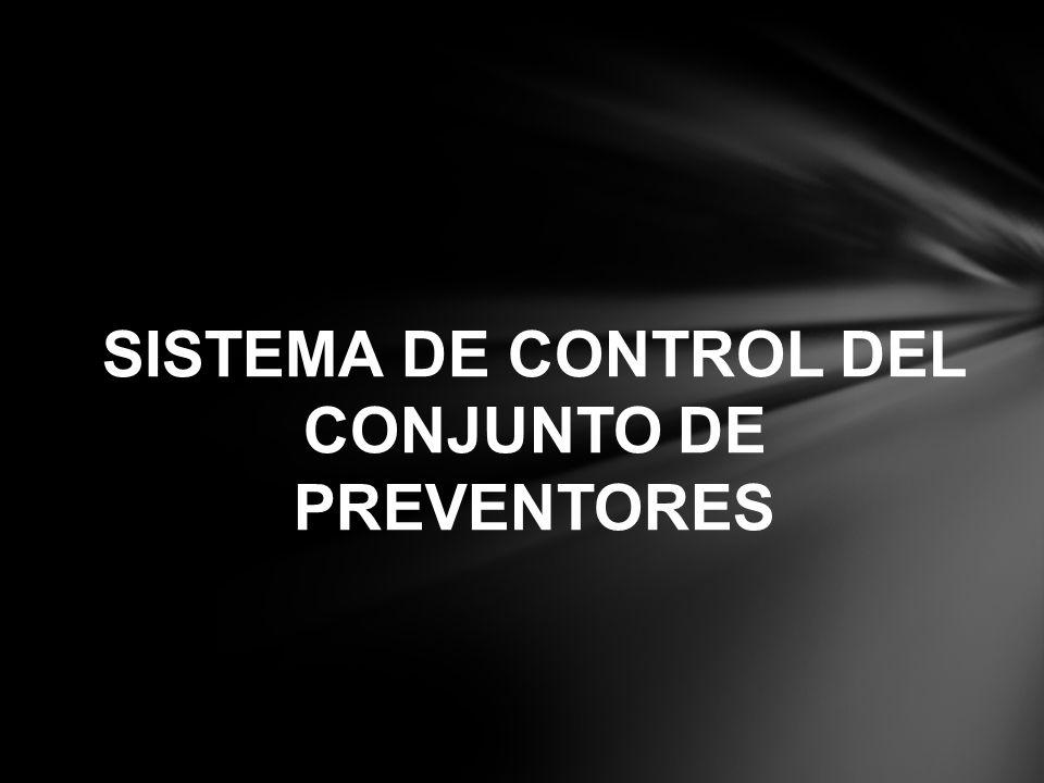 SISTEMA DE CONTROL DEL CONJUNTO DE PREVENTORES