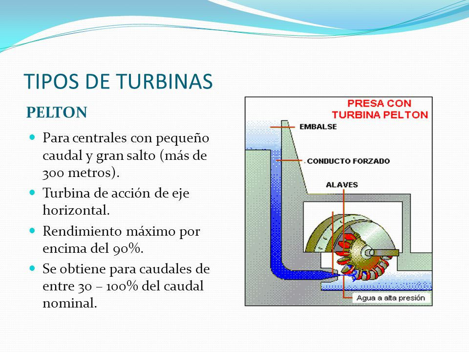 TIPOS DE TURBINAS PELTON
