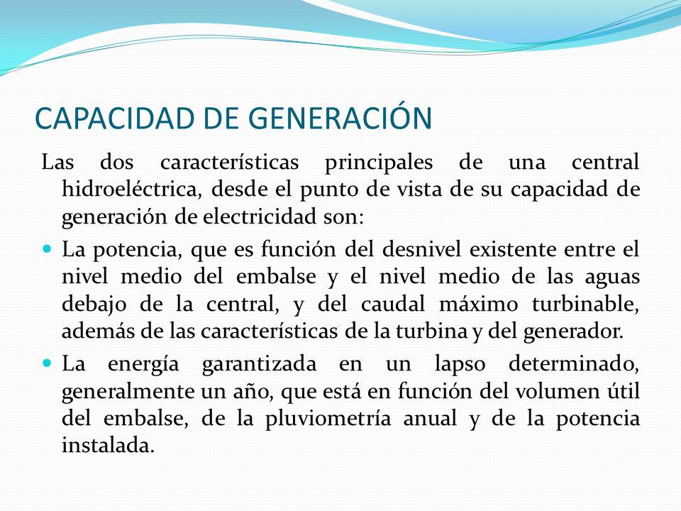 CAPACIDAD DE GENERACIÓN