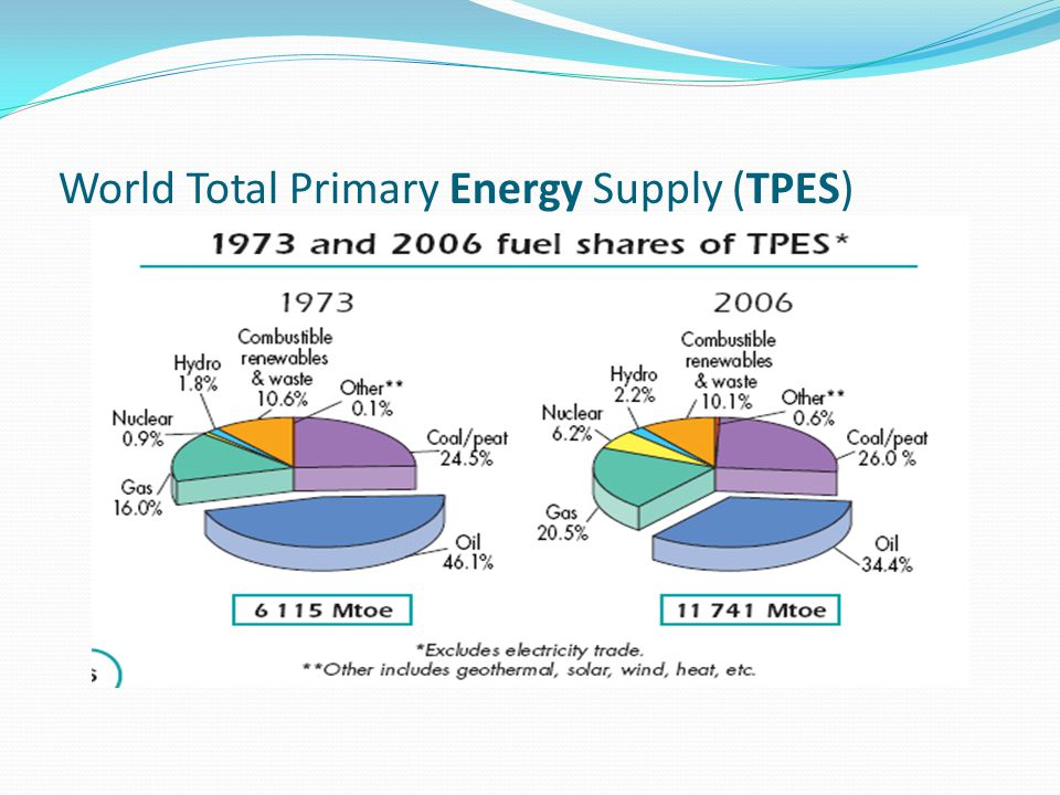 World Total Primary Energy Supply (TPES)