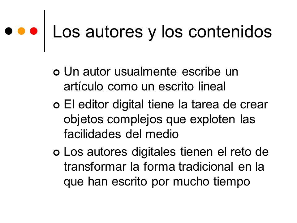 Los autores y los contenidos