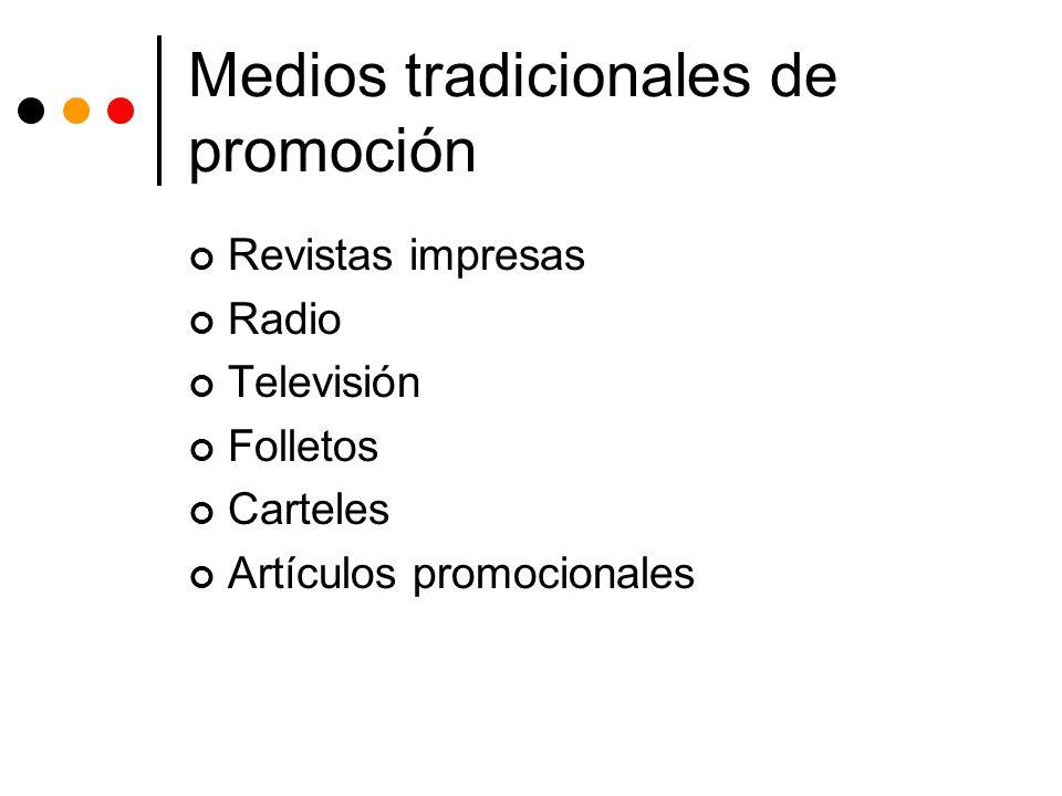 Medios tradicionales de promoción