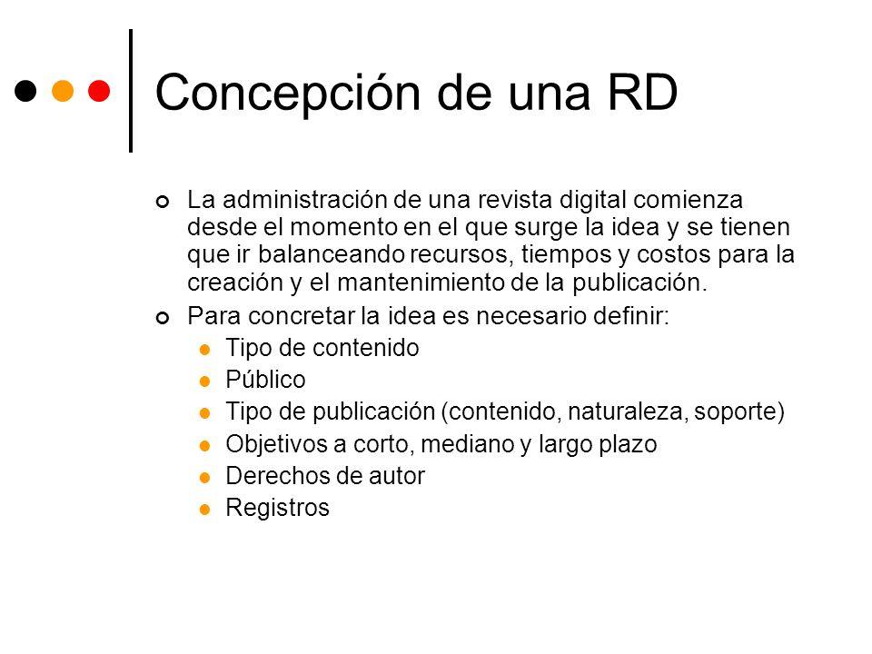 Concepción de una RD