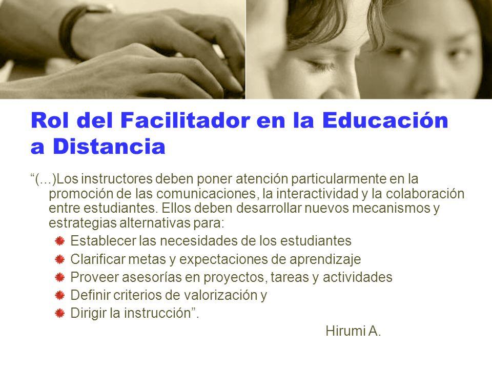 Rol del Facilitador en la Educación a Distancia