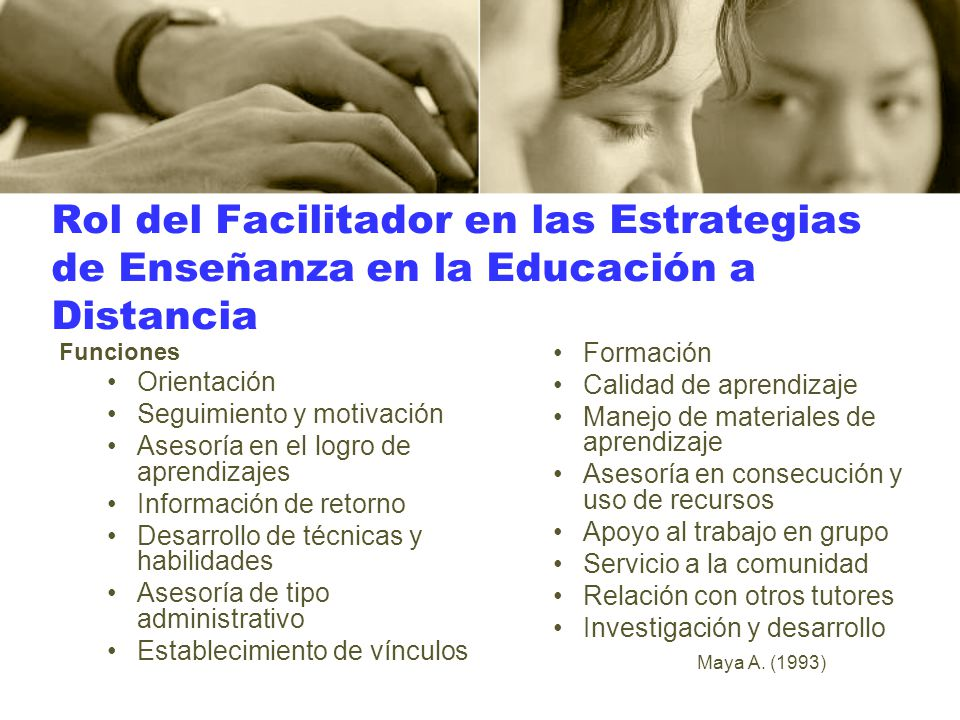 Rol del Facilitador en las Estrategias de Enseñanza en la Educación a Distancia