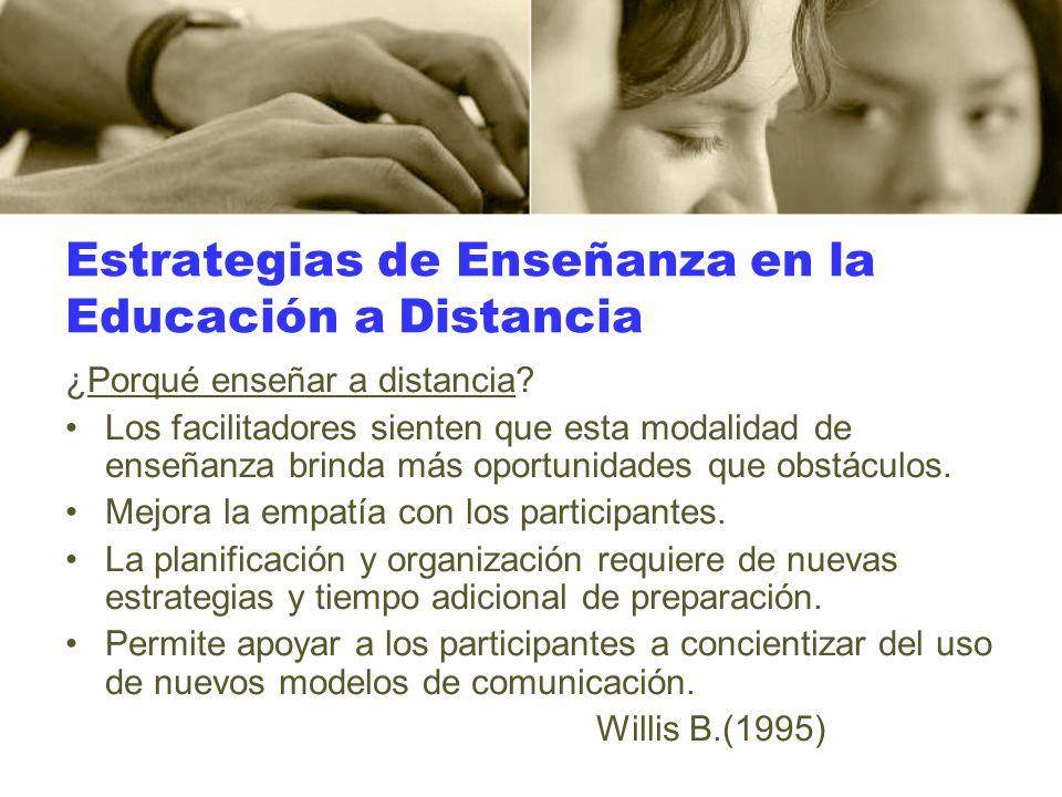 Estrategias de Enseñanza en la Educación a Distancia