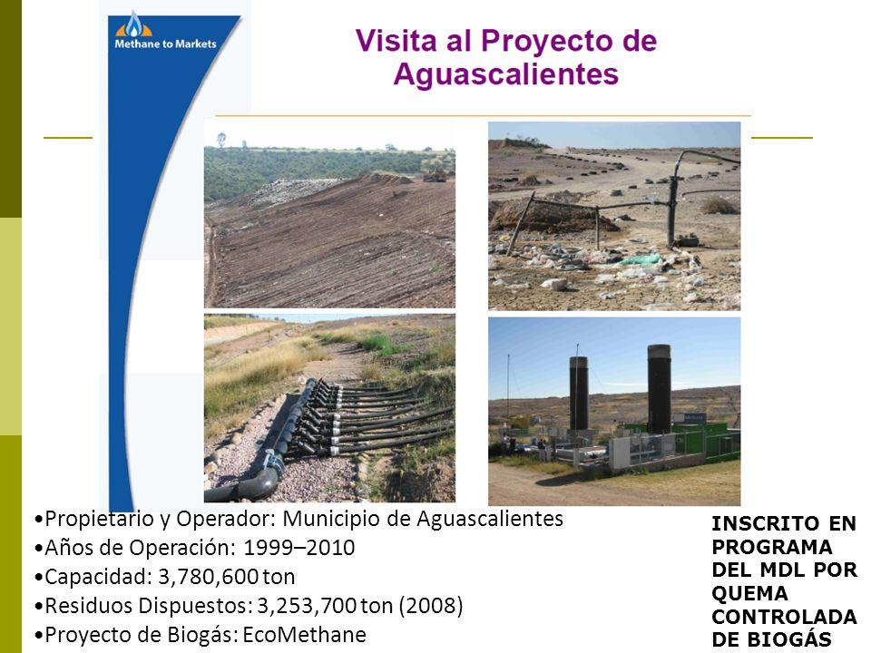 Propietario y Operador: Municipio de Aguascalientes