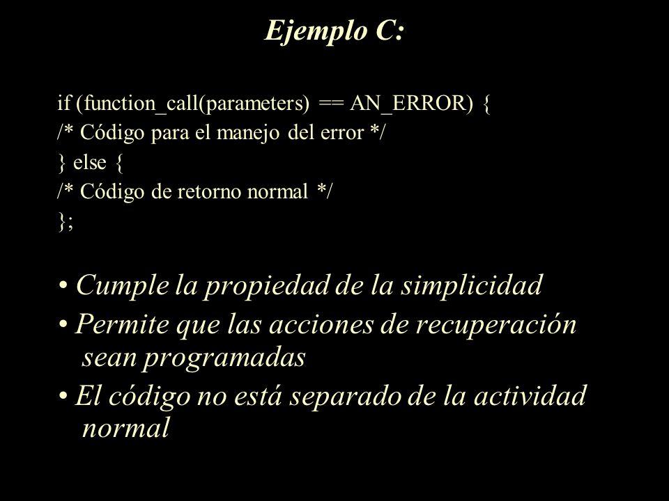 • Cumple la propiedad de la simplicidad