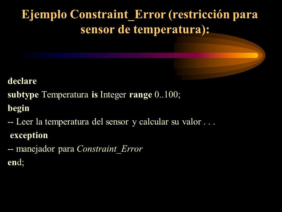 Ejemplo Constraint_Error (restricción para sensor de temperatura):