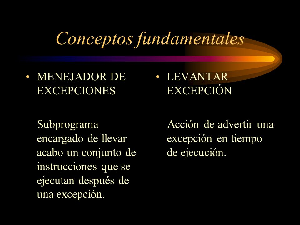 Conceptos fundamentales