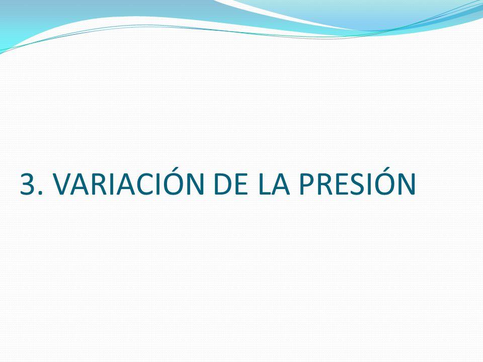3. VARIACIÓN DE LA PRESIÓN