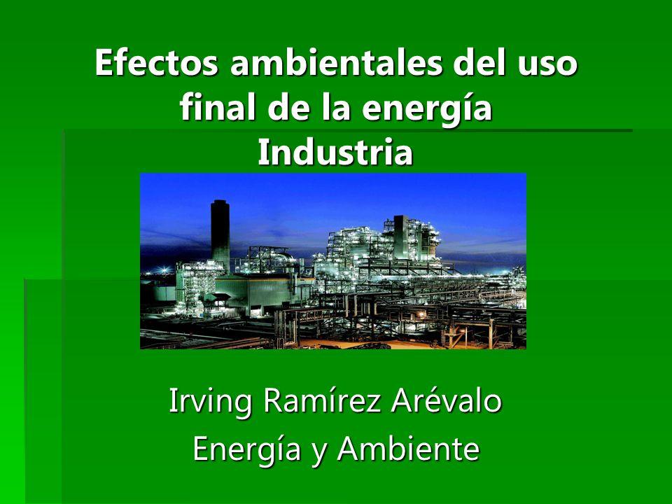 Efectos ambientales del uso final de la energía Industria