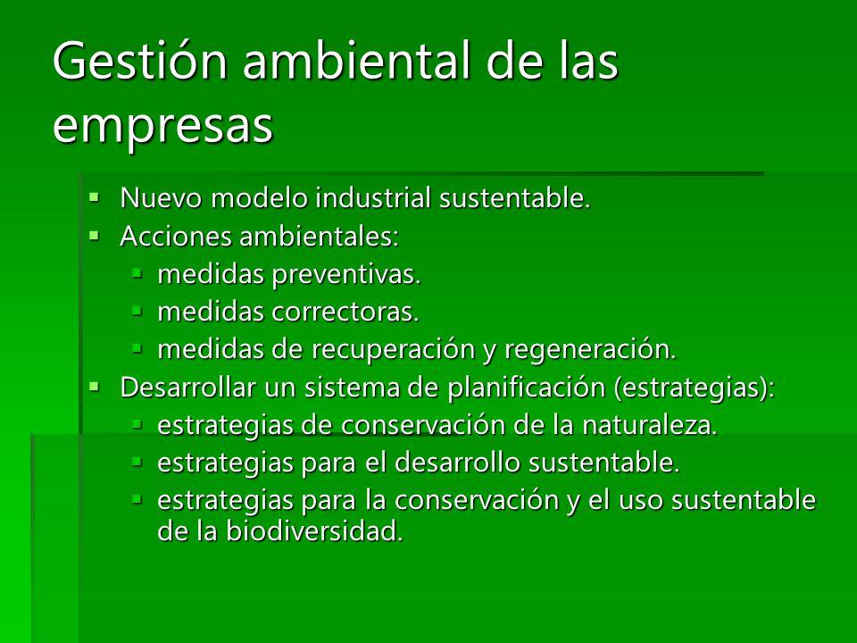 Gestión ambiental de las empresas