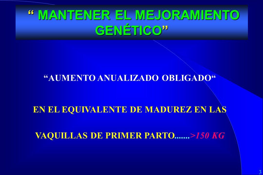 MANTENER EL MEJORAMIENTO GENÉTICO