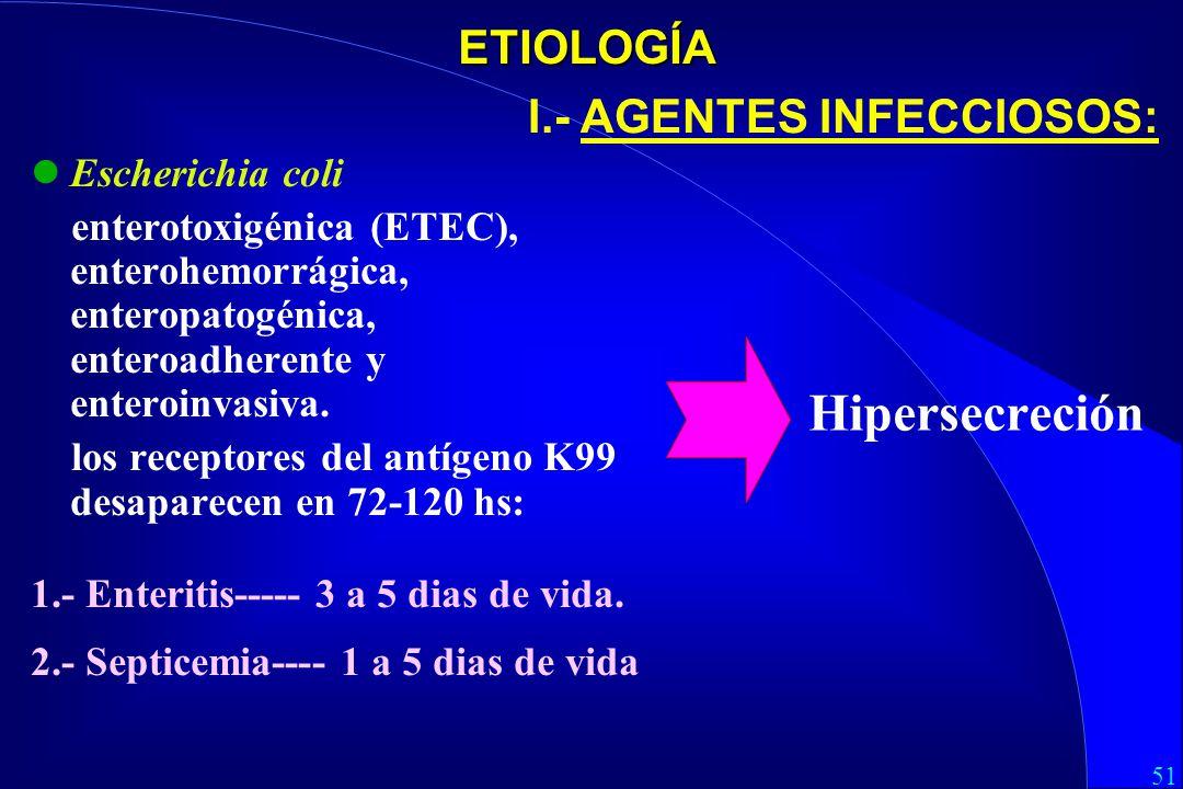 I.- AGENTES INFECCIOSOS: