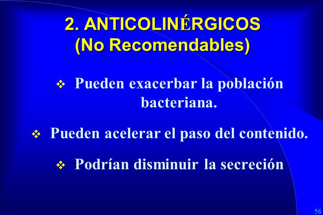2. ANTICOLINÉRGICOS (No Recomendables)
