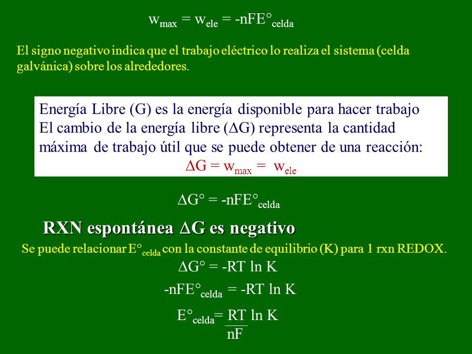 wmax = wele = -nFE°celda