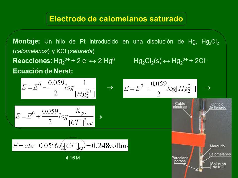 Electrodo de calomelanos saturado