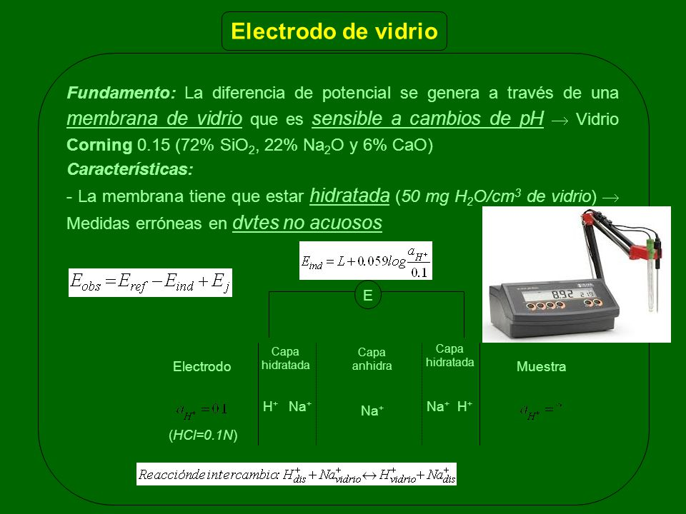 Electrodo de vidrio