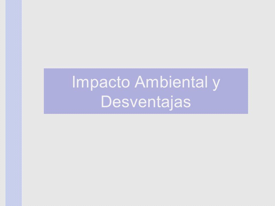 Impacto Ambiental y Desventajas