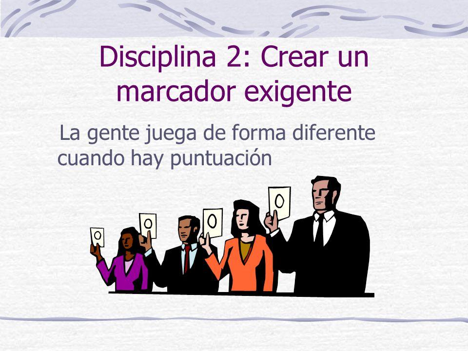 Disciplina 2: Crear un marcador exigente
