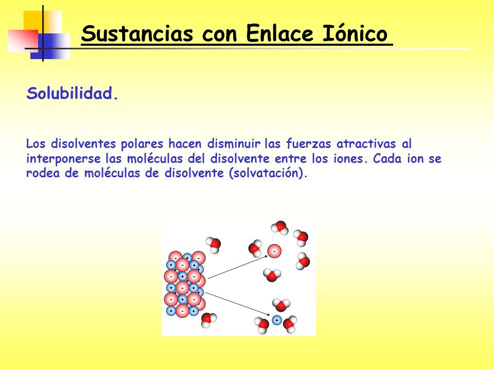 Sustancias con Enlace Iónico