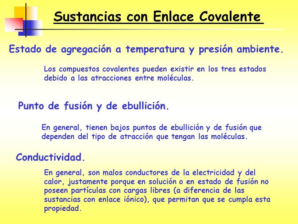 Sustancias con Enlace Covalente