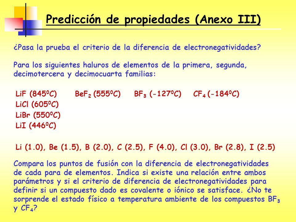 Predicción de propiedades (Anexo III)