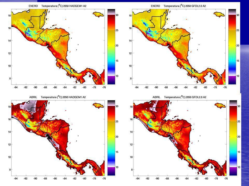 Escenarios de Cambio Climático para México. 10 Km. x 10 Km