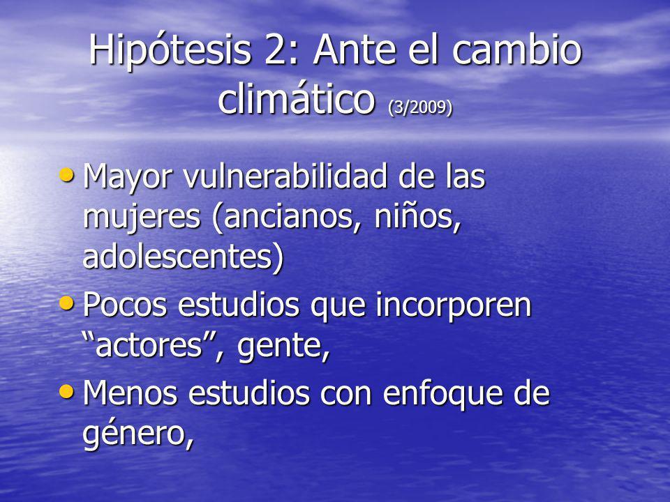 Hipótesis 2: Ante el cambio climático (3/2009)