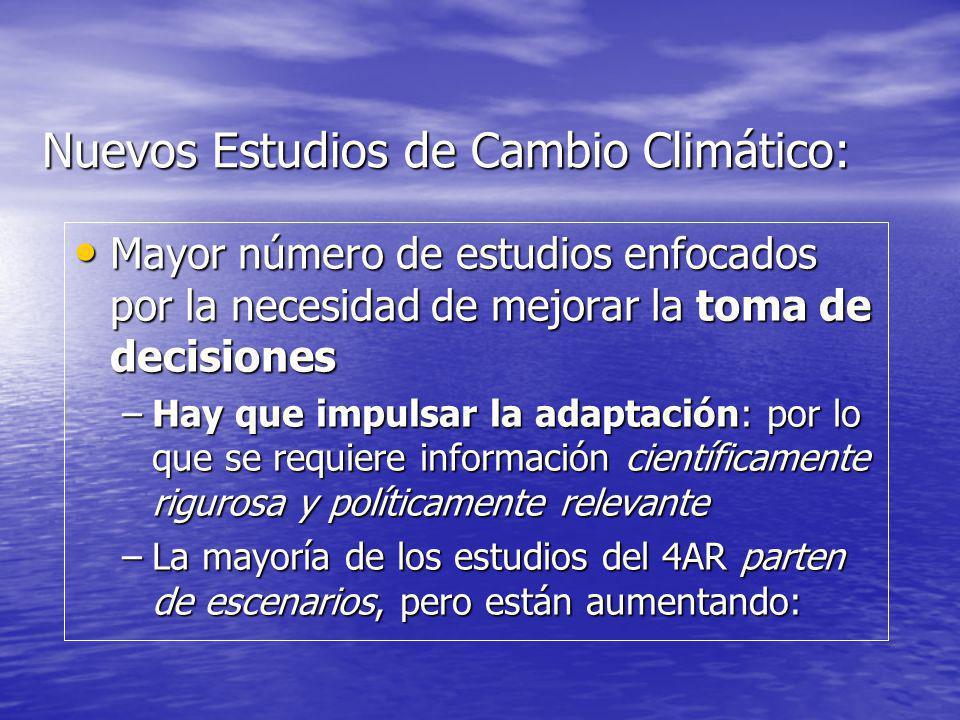 Nuevos Estudios de Cambio Climático: