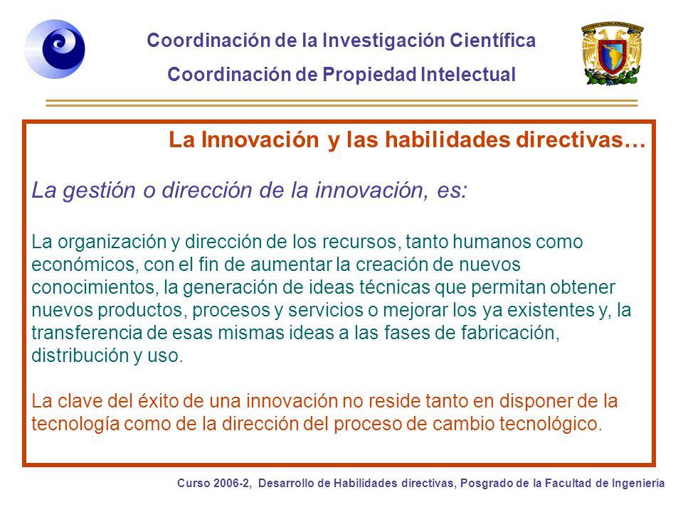 La Innovación y las habilidades directivas…
