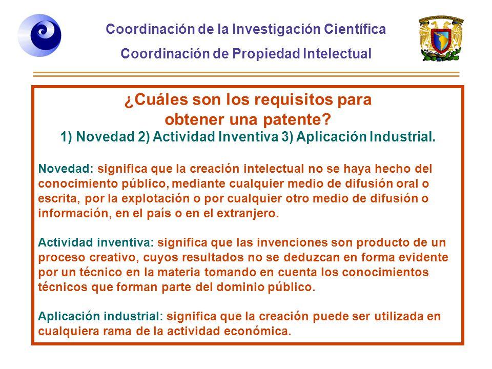 ¿Cuáles son los requisitos para obtener una patente