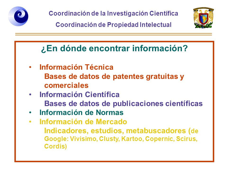 ¿En dónde encontrar información