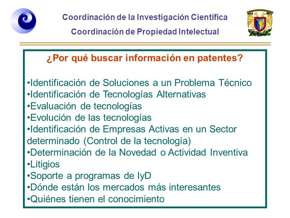¿Por qué buscar información en patentes
