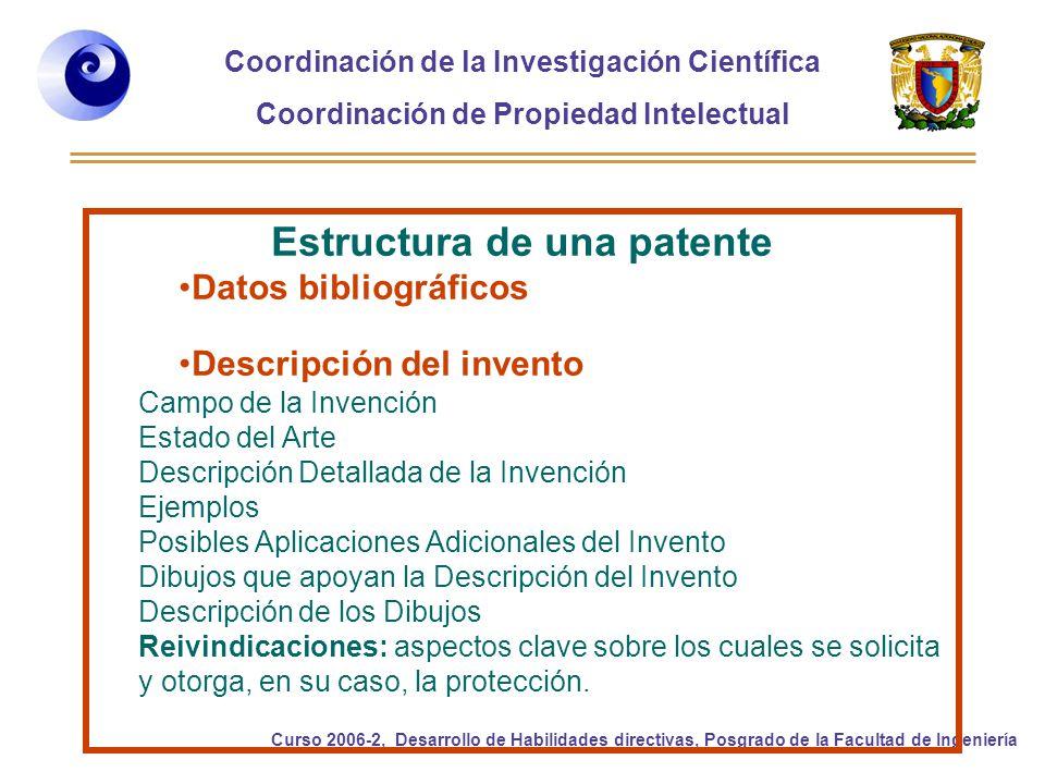 Estructura de una patente