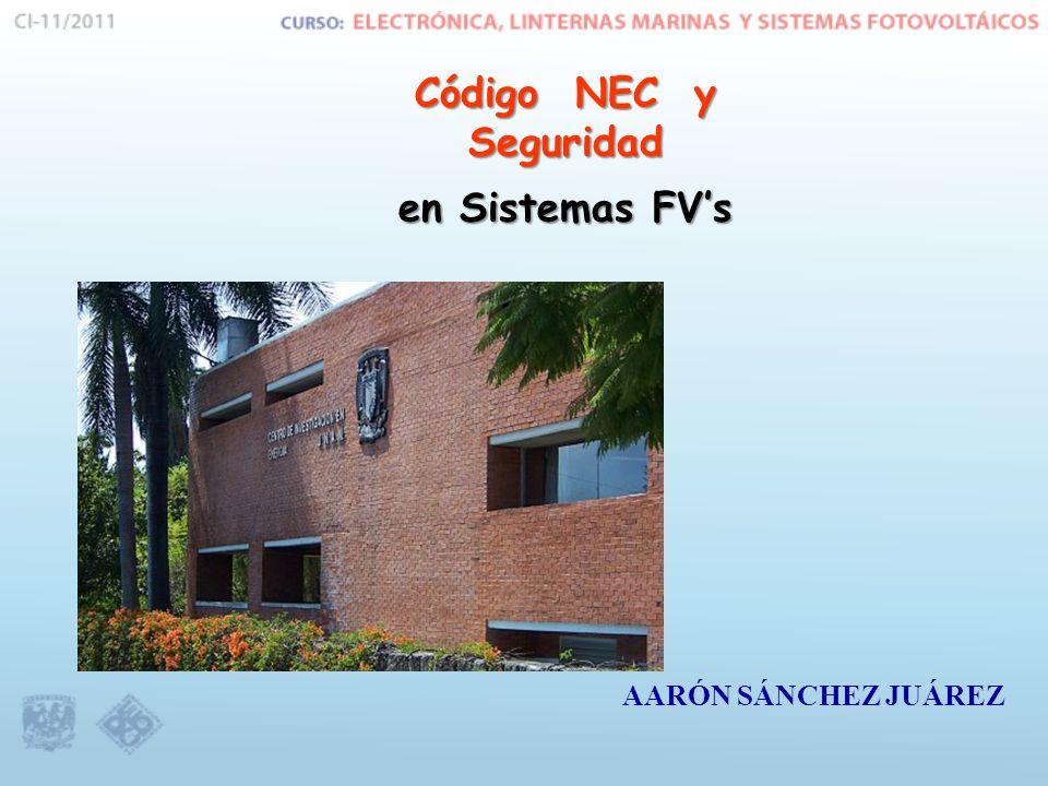 Código NEC y Seguridad en Sistemas FV's