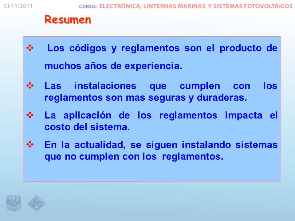 Resumen Los códigos y reglamentos son el producto de muchos años de experiencia.