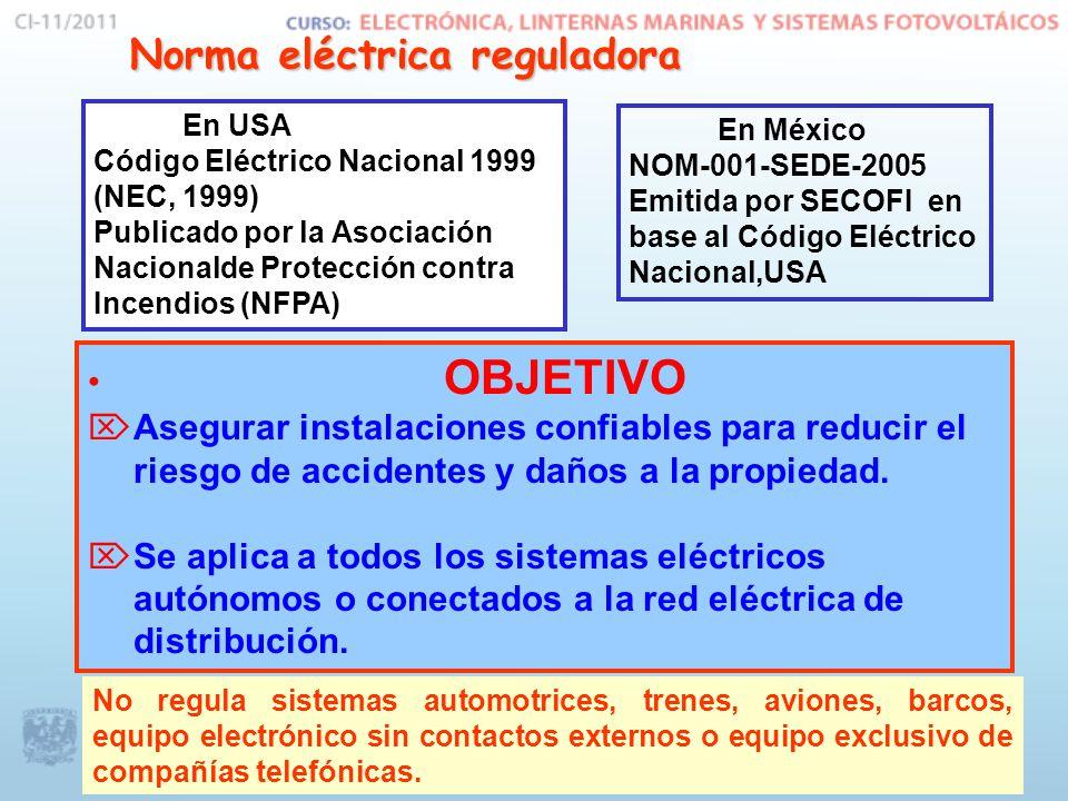 Norma eléctrica reguladora