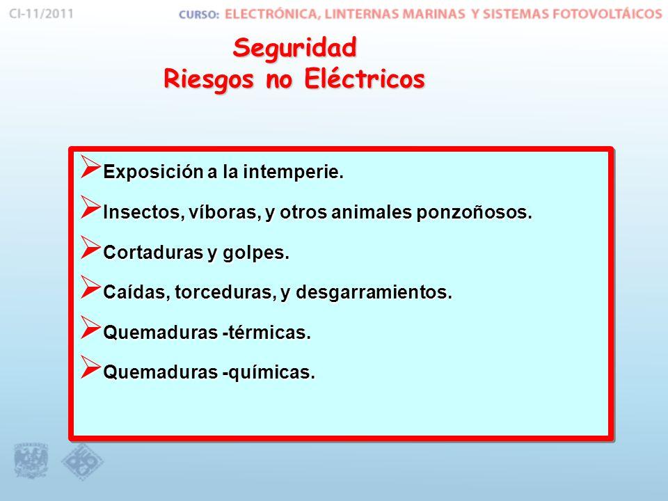 Seguridad Riesgos no Eléctricos