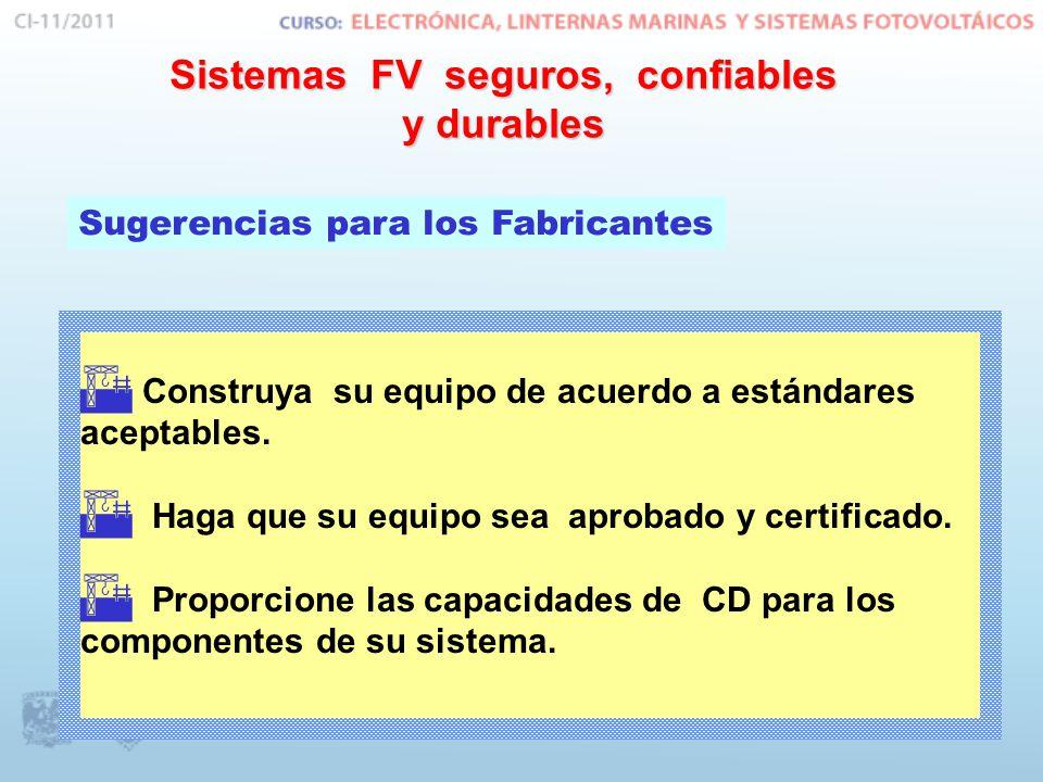 Sistemas FV seguros, confiables y durables