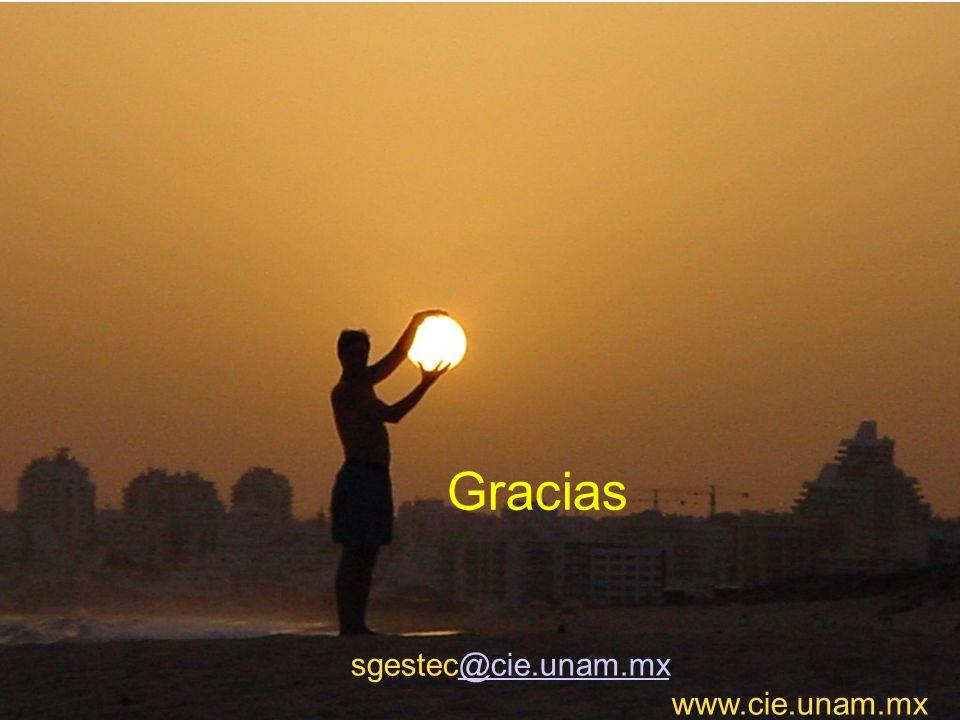 Gracias sgestec@cie.unam.mx www.cie.unam.mx 40