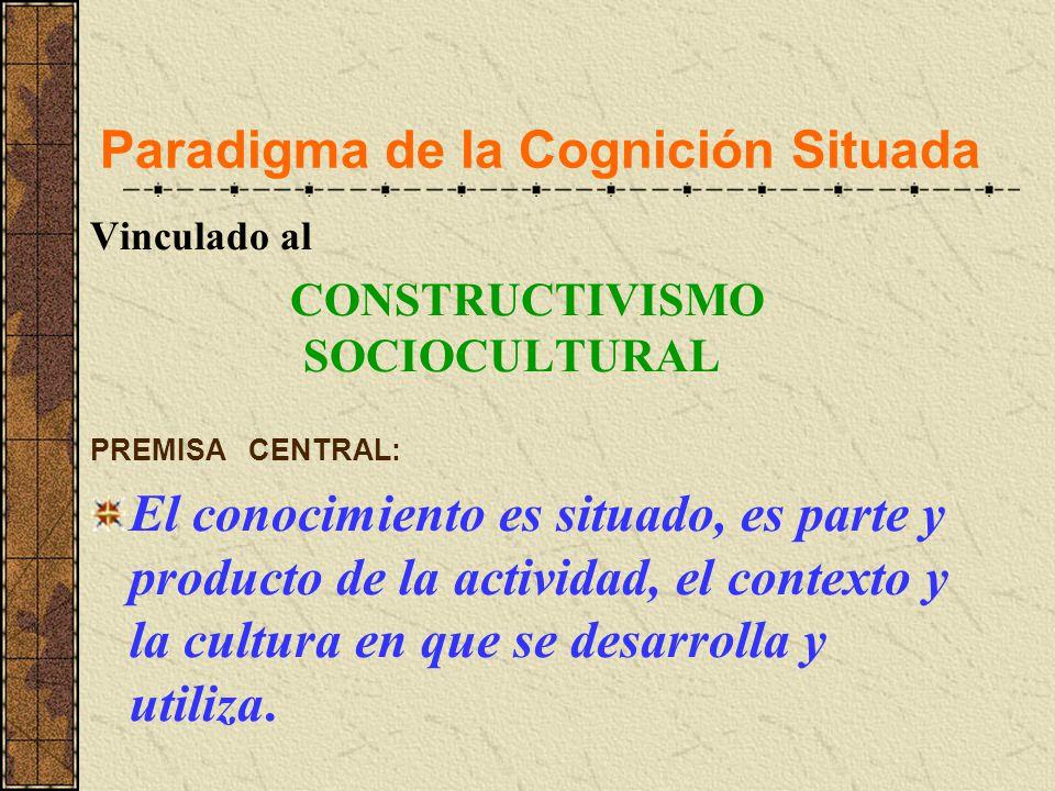 Paradigma de la Cognición Situada
